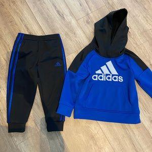 Adidas hoodie & sweatpants set 3t